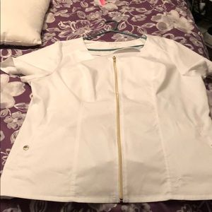 2X White Jaanuu biker top. Worn once.